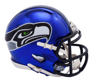 Seattle Seahawks Speed Riddell Replica Full Size Helmet - Chrome Alternate