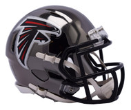Atlanta Falcons Speed Riddell Replica Full Size Helmet - Chrome Alternate