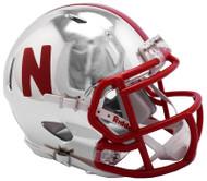 Nebraska Cornhuskers Alternate Chrome NCAA Riddell Speed Mini Helmet