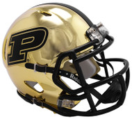 Purdue Boilermakers Alternate Chrome NCAA Riddell Speed Mini Helmet