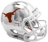 Texas Longhorns Alternate Silver Chrome NCAA Riddell Speed Mini Helmet