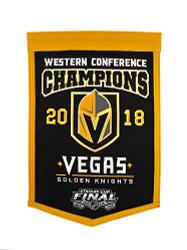 Las Vegas Golden Knights NHL 2018 Western Confernece Champions Banner