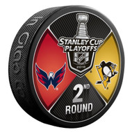 2018 NHL Stanley Cup Playoff Round 2 Washington Capitals vs. Pittsburgh Penguins Dueling Souvenir Puck