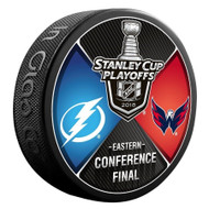 2018 NHL Stanley Cup Playoff Eastern Conference Washington Capitals vs. Tampa Bay Lightning Dueling Souvenir Puck