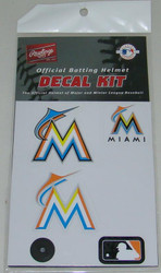 Miami Marlins Batting Helmet Rawlings Decal Kit