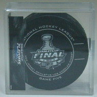 2012 NHL Stanley Cup Playoff Sherwood Official Game Puck (Game Five)