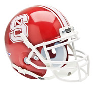 North Carolina NC State Wolfpack Alternate Red Schutt Mini Authentic Helmet