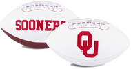 Signature Series NCAA Oklahoma Sooners Autograph Full Size Football