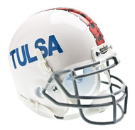 Tulsa Golden Hurricane Alternate White Schutt Mini Authentic Helmet