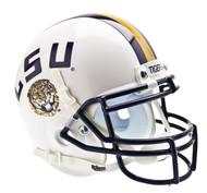 LSU Tigers Alternate White Schutt Mini Authentic Helmet