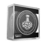 2013 NHL Stanley Cup Playoff Sherwood Official Game Puck (Game Four)