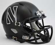 Northwestern Wildcats Alternate Flat Black Revolution SPEED Mini Helmet