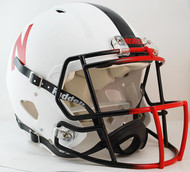 Nebraska Cornhuskers SPECIAL (MATTE WHITE) Riddell Full Size Authentic SPEED Helmet