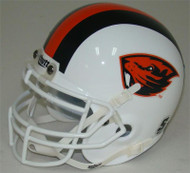 Oregon State Beavers White Schutt Mini Authentic Helmet