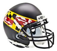 Maryland Terrapins Alternate Black with Wing Schutt Mini Authentic Helmet