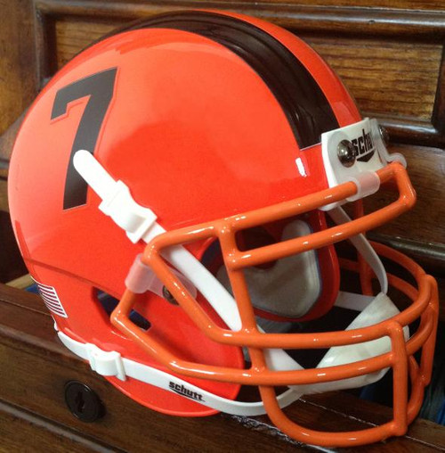 Football Helmet Vinyl Wraps : Oregon state beavers alternate orange schutt mini