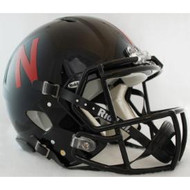 Nebraska Cornhuskers NEW (BLACK) Riddell Full Size Authentic SPEED Helmet
