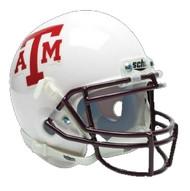 Texas A&M Aggies Alternate White Schutt Mini Authentic Helmet