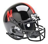Nebraska Cornhuskers Alternate Black Schutt Mini Authentic Helmet