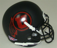 Utah Utes Alternate Black Matte (Red Logo) Schutt Mini Authentic Helmet