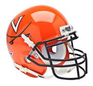 Virginia Cavaliers Alternate Orange Schutt Mini Authentic Helmet