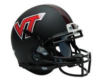 Virginia Tech Hokies ALTERNATE BLACK MATTE Schutt Mini Authentic Helmet