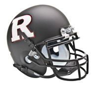 Rutgers Scarlet Knights Black Matte with White Logo Schutt Mini Authentic Helmet