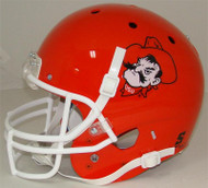 Oklahoma State Cowboys Orange Pistol Pete Schutt Full Size Replica Helmet