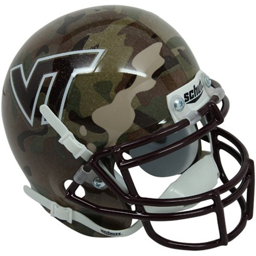 Football Helmet Vinyl Wraps : Virginia tech hokies alternate camo schutt mini authentic