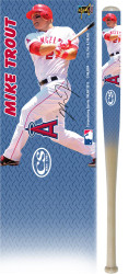 MLB Angels Mike Trout Natural Ash MINI Baseball Bat 18 inch