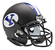 BYU Brigham Young Cougars Alternate BLACK Schutt Mini Authentic Helmet