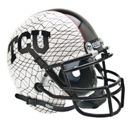 TCU Texas Christian Horned Frogs Alternate White Schutt Mini Authentic Helmet