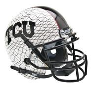 TCU Texas Christian Horned Frogs Alternate White Schutt Mini Authentic Helmet