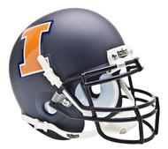 Illinois Fighting Illini Alternate Navy Matte Schutt Mini Authentic Helmet
