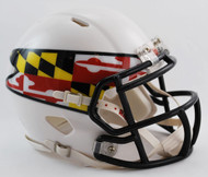 Maryland Terrapins Alternate White NCAA Revolution SPEED Mini Helmet