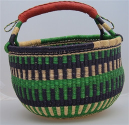 Handwoven Market Basket from Ghana