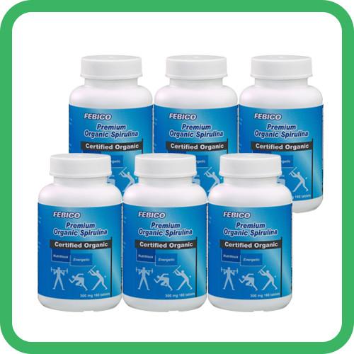 FEBICO Organic Spirulina x 6 bottles (bundle sale)