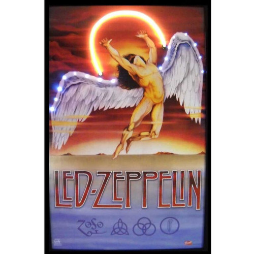 Led Zeppelin angel neon illuminated LED artwork