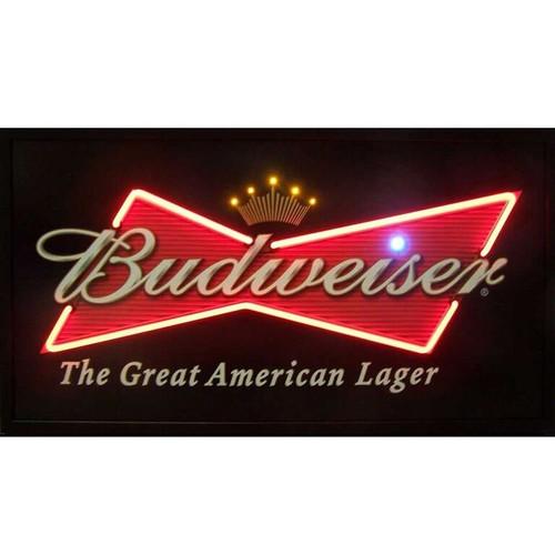 Budweiser logo neon LED illuminated poster