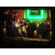 """Classic Interlude"" neon LED illuminated artwork by Chris Consani"