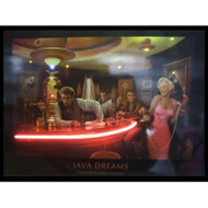 """Java Dreams"" LED illuminated neon Chris Consani artwork"