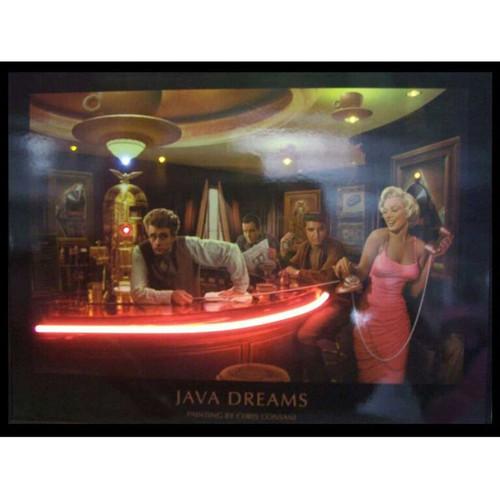 """Java Dreams"" LED illuminated neon Chris Consani artwork"