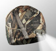 4 LED Headlamp Realtree MAX 5 Camo Hands-Free Lighted Hunting Beanie By Panth...