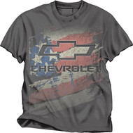 Chevy Logo American Flag T-Shirt (Large) [Misc.]