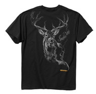 Buckwear Smoke-Deer Short Sleeve Tee, Black, X-Large [Apparel]