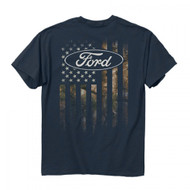 Buck Wear Ford Camo Accent Flag T-Shirt (Large) [Misc.]