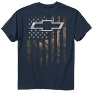 Buck Wear Chevy Realtree Camo American Flag Accent Hunting T-Shirt (Large)
