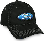 Ford® Frayed Patch Black Cotton Cap