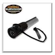 Survivor Fire Starters Magnesium Firesteel Black, Flint and Steel