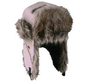 Outdoor Cap Women's Fleece Cold Weather Trapper with Faux Fur, 1 Unit, Realtr...